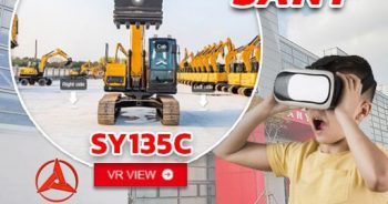 VR VIEW!! Sany King of Excavator